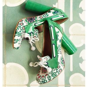 Tory Burch Garden Party Fisher Loafer Pump Green